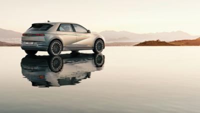 Permalänk till:Mycket nytt i Ioniq 5 men designen kopplar även till Hyundais historia.