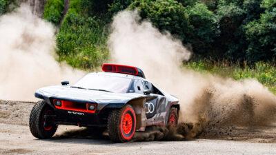 Permalänk till:Mattias Ekström och Audi tar eldrivning till Dakarrallyt